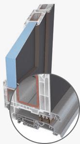 Soglia in alluminio con barriera termica