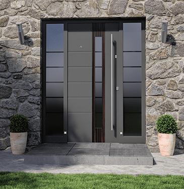 Porte d'ingresso in alluminio