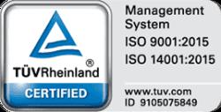 Certificazioni ISO TUV Rheinland