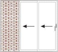 Intelaiatura galandage con 2 guide - apertura a sinistra